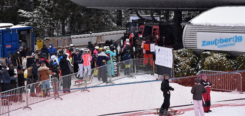 Massen bei Skigebieten